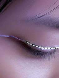 LED Light False Eyelashes, Glowing Eyes, LED Eyelash Lamp, Double Gypsum, False Eyelash Lamp (Key Control)