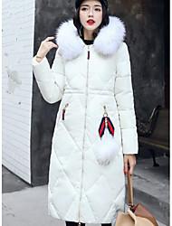 Piumino Da donna,Cappotto Moda città Per uscire Casual Tinta unita Cotone Polipropilene Manica lunga