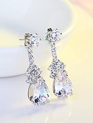 cheap -Women's Drop AAA Cubic Zirconia Cubic Zirconia / Silver 1 Drop Earrings - Classic / Elegant Silver Earrings For Wedding / Evening Party