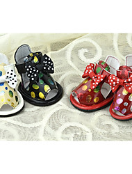 Dog Shoes & Boots Casual/Daily Polka Dots Black Yellow Red For Pets