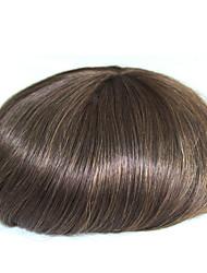 preiswerte -6 Zoll remy Menschenhaar Mann toupee Menschenhaar toupee 8x10 Zoll Mono Basis Männer Haare Stück Farbe # 4
