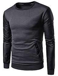 cheap -Men's Sweatshirt - Color Block, Cut Out Mesh Round Neck