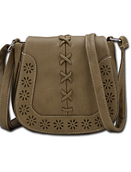 Kids Bags All Seasons PU Shoulder Bag Zipper for Shopping Casual Coffee Brown Dark Brown Camel Khaki