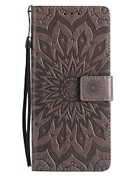 cheap -Case For Samsung Galaxy Note 8 Wallet Card Holder with Stand Flip Embossed Full Body Flower Hard PU Leather for Note 8 Note 5 Note 4 Note