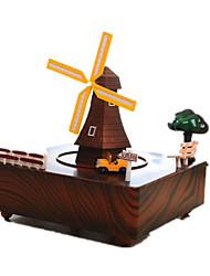 abordables -Petites Voiture Boîte à musique Moulin à vent Moulin à vent Rotatif Enfant Adultes Enfants Cadeau Unisexe