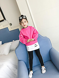 cheap -Girls' Solid Sets,Cotton Polyester Spring Fall Long Sleeve Clothing Set