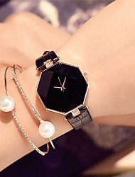 cheap -Women's Fashion Watch / Wrist Watch Chinese / PU Band Charm / Casual / Elegant Black / White / Blue