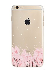 economico -Per iPhone X iPhone 8 Custodie cover Transparente Fantasia/disegno Custodia posteriore Custodia Fiore decorativo Morbido TPU per Apple