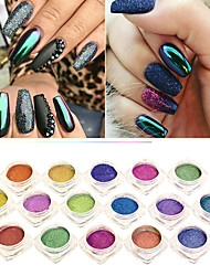 0.5g/Bottle  Mirror Effect Nail Art Glitter Powder Shimmer Chrome Pigment