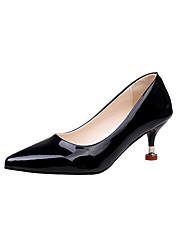 Da donna Scarpe Vernice PU (Poliuretano) Estate Decolleté Tacchi Footing A stiletto Appuntite Per Casual Formale Nero Grigio Rosa