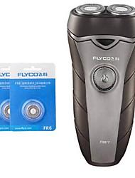 Недорогие -flyco fs877 электробритва бритвы две запасные головки 100240v моющаяся головка