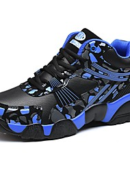 Men's Shoes PU Spring Fall Comfort Sneakers Lace-up For Casual Black/Blue Black/Red Black/White