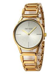 abordables -Mujer Reloj de Pulsera Esfera Grande Aleación Banda Casual / Moda Dorado / Un año / ETA 377A