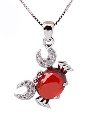 Women's Choker Necklaces Pendant Necklaces Imitation Ruby Animal Shape Sterling Silver Rhinestone Fashion Personalized Jewelry For Casual
