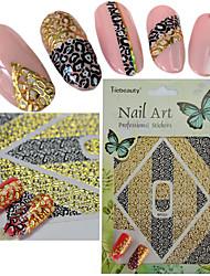 1pcs Charm Gold Black Sexy Leopard Veins Nail Art 3D Sticker Fashion Leopard Veins 3D Decoration Manicure DIY Beauty BP223