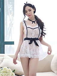 Women's Uniforms & Cheongsams Lace Lingerie Ultra Sexy Nightwear,Sexy Lace Patchwork-Thin Spandex