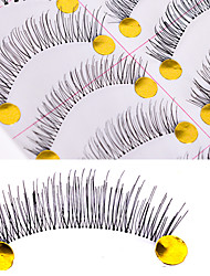 Eyelashes lash Full Strip Lashes Women Outdoor Lady Eye Daily Eyes Eyelash Universal Holiday Crisscross Natural Long Lengthens the End of
