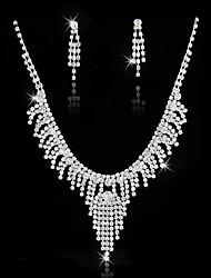 billige -Dame Smykkesæt - Sølvbelagt minimalistisk stil, Mode Omfatte Sølv Til Bryllup Fest