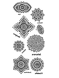 cheap -Tattoo Stickers Totem Series Pattern Lower Back Waterproof Women Men Teen Flash Tattoo Temporary Tattoos