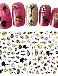 abordables -1 Engomada del arte del clavo Halloween Suministros DIY Adhesivo 3D Año Nuevo maquillaje cosmético Dise?o de manicura