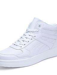 abordables -Homme Chaussures Polyuréthane Tulle Printemps Automne Confort Basket Lacet pour Décontracté De plein air Blanc Rose et blanc Noir/blanc