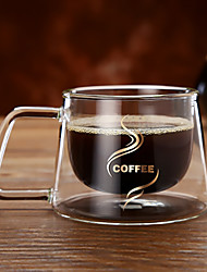 Double Layer High Borosilicate Glasses Coffee Cup Tea Mug Gift