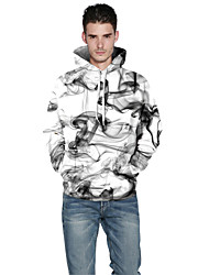 cheap -Men's Sports Outdoor Daily Active Hoodie 3D Print Hooded Inelastic Polyester Spandex Long Sleeve Spring Fall