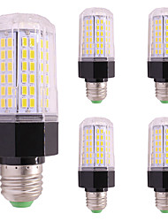 cheap -5PCS 9W 850 lm LED Corn Lights E27/E14 112 leds SMD 5730 Warm White Cold White AC85-265