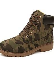 Недорогие -Муж. Армейские ботинки Искусственная кожа Осень / Зима Ботинки Ботинки Желтый / Военно-зеленный / Темно-коричневый
