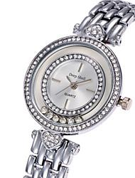 abordables -Mujer Cuarzo Reloj de Pulsera Gran venta Aleación Banda Lujo Casual Elegant Moda Cool Plata Dorado