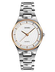 baratos -SKMEI Mulheres Relógio de Pulso Japanês Impermeável / Legal Aço Inoxidável Banda Luxo / Fashion / Elegante Prata