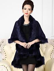 mantella di perline in pelliccia ecologica / mantella da sera per donna elegante stile