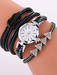 Women's Fashion Watch Bracelet Watch Quartz PU Band Cool Casual Black White Blue
