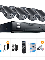 JOOAN 2MP AHD Security Camera System 4 X 1080P Weatherproof TVI Camera  And 1080N 8CH DVR Recorder
