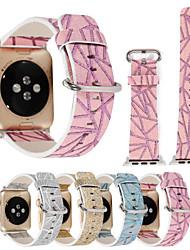 economico -per la vigilanza della mela iwatch serie 3 2 1 cinghia di cuoio genuina dello scintillio del glitter& adattatore 38mm 42mm