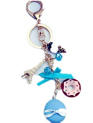 cheap -Toy Car Key Chain Doll Toy Tower Famous buildings Eiffel Tower Butterfly Key Chain Metalic Iron Metal Boys' Unisex Kid's Gift