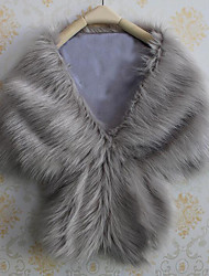 cheap -Faux Fur Wedding Party / Evening Women's Wrap Capelets