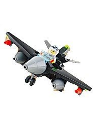 Недорогие -Конструкторы Наборы для моделирования Самолёт Игрушки Летательный аппарат Мягкие пластиковые 1 Куски Подарок