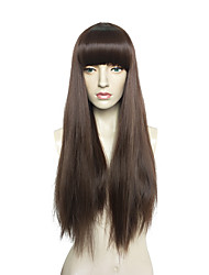 cheap -Women Synthetic Wig Capless Very Long Straight Brown Bob Haircut Celebrity Wig Halloween Wig Cosplay Wig Natural Wigs Costume Wig