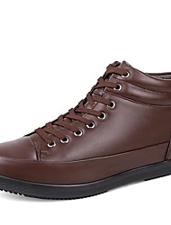 cheap -Men's Shoes Real Leather Cowhide Nappa Leather Fall Winter Driving Shoes Fashion Boots Bootie Sneakers Booties/Ankle Boots Lace-up For
