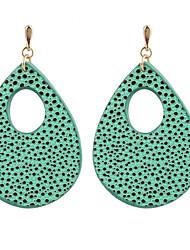 preiswerte -Damen Tropfen-Ohrringe Kreolen Schmuck Modisch individualisiert Leder Kupfer Tropfen Schmuck Für Normal Ausgehen