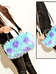 cheap -Women Bags Fur Shoulder Bag Feathers / Fur for Event/Party Shopping Winter Blue White Black Red Brown