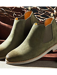 cheap -Men's Shoes Suede Spring Fall Light Soles Boots For Casual Black Gray Light Yellow Army Green