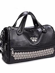 cheap -Women Bags Sheepskin Tote Zipper for Casual All Seasons Black