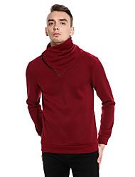cheap -Men's Daily Regular Pullover,Polka Dot Turtleneck Long Sleeves Cotton Spring Fall Medium Micro-elastic