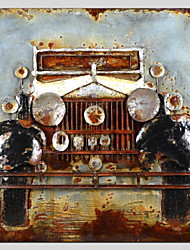 cheap -Oil Painting Hand Painted - Famous Vehicle Canvas