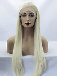Women Synthetic Wig Lace Front Long Straight Blonde Middle Part Sew in Natural Wigs Costume Wig