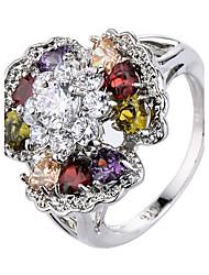 preiswerte -Herrn Damen Knöchel-Ring Verlobungsring Kubikzirkonia Luxus Klassisch Elegant Modisch Zirkon Kupfer Blume Schmuck Hochzeit Party