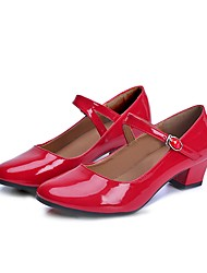 cheap -Women's Modern PVC Leather Patent Leather Heel Performance Red Customizable