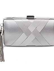 cheap -Women's Bags Polyester Evening Bag Split Front for Wedding Event/Party All Seasons White Black Silver Beige